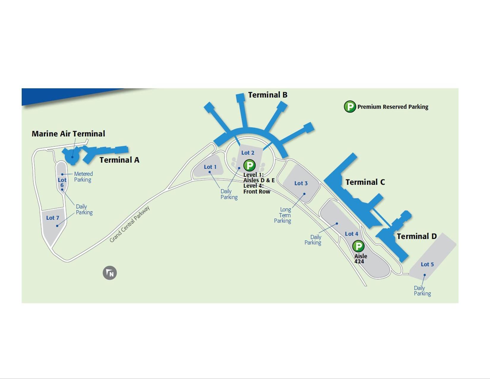 LaGuardia OnSite Airport Parking NY LaGuardia Airport - Laguardia airport map